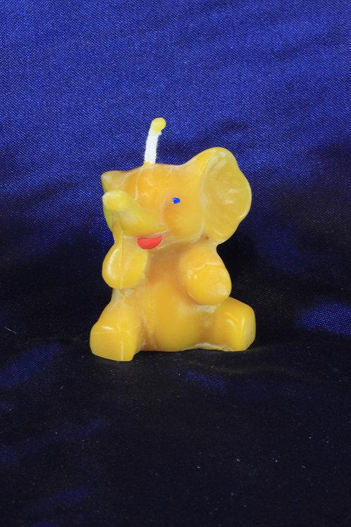 20125040 Elefant sitzend bemalt