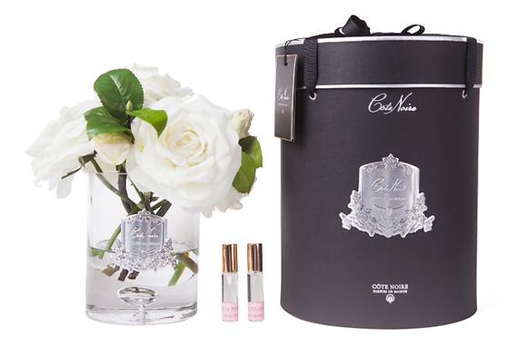 Luxury Tea Rose Ivory White - Clear