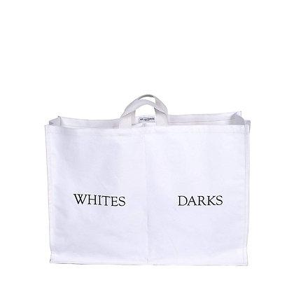 Double Laundry Sorter - White