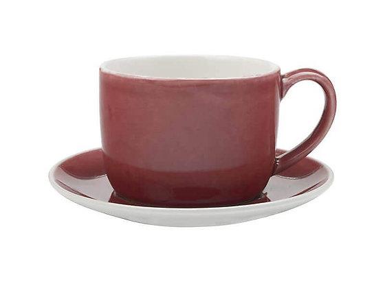 Artisan Cup & Saucer 280ML Pomegranate