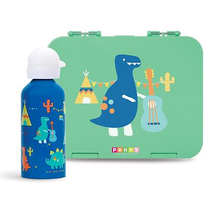 Large Bento + Drink Bottle - Dino Rock