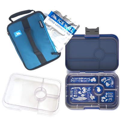 BLUE Yumbox Large Lunch Bundle Pack