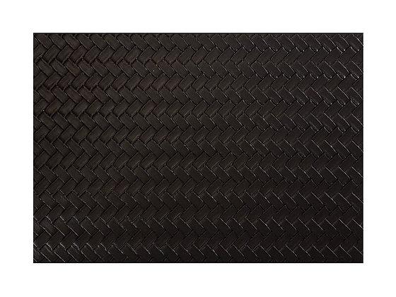 Table Accents Leather Look Placemat 43x30cm Black Plait