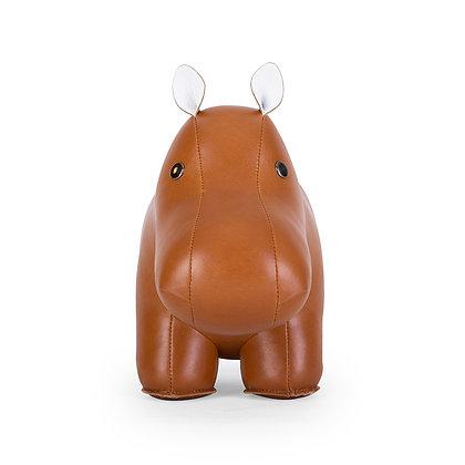 Doorstop Classic Hippo Tan