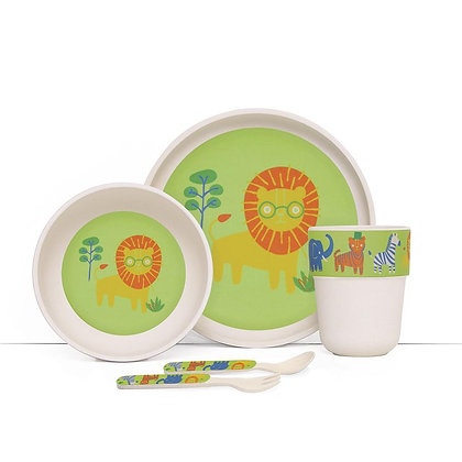 Bamboo Mealtime Set with Cutlery - Wild Thing