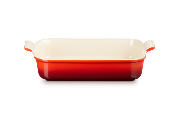 Heritage Deep Rectangular Dish 32 - Cerise