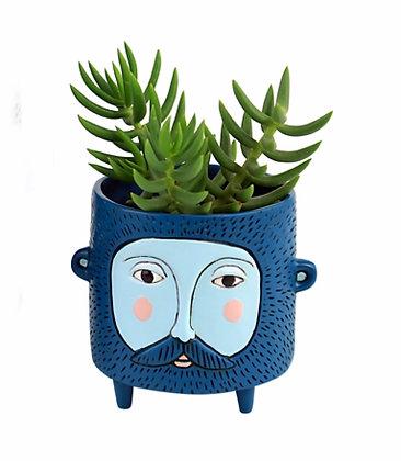 Baby Hairy JACK blue Planter