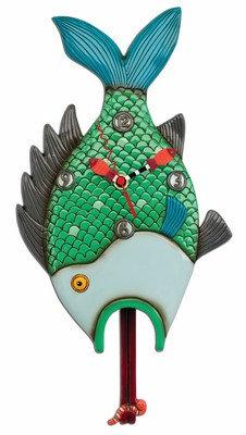 OPEN WIDE FISH clock