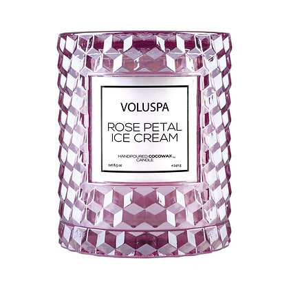 Rose Petal Ice Cream Icon Cloche Candle