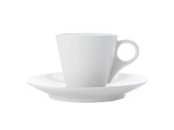 White Basics Conical Demi Cup & Saucer 100ML