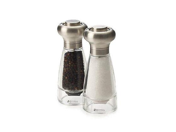 Dynasty Stainless Steel Salt & Pepper Mill Set 16cm