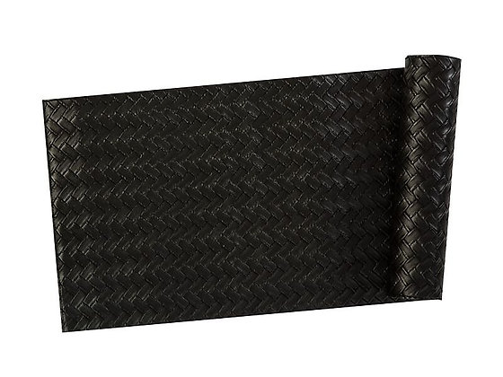 Table Accents Leather Look Runner 30x150cm Black Plait