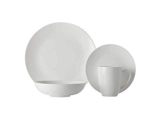 White Basics Fitzrovia Coupe Dinner Set 16 Piece
