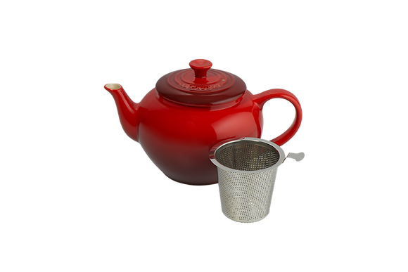 Classic Teapot w/ Stainless Steel Infuser  - Cerise