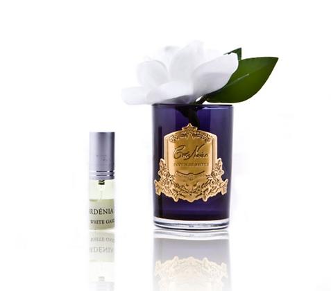 White gardenia - Black Glass