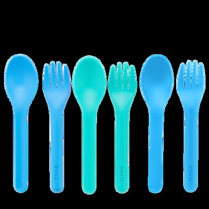 Fork & Spoon Set - Blue/Green