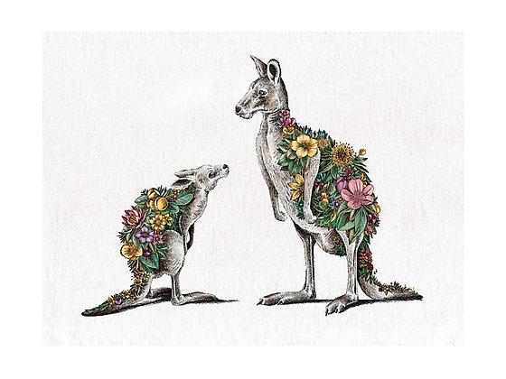 Marini Ferlazzo Tea Towel 50x70cm Kangaroo & Joey