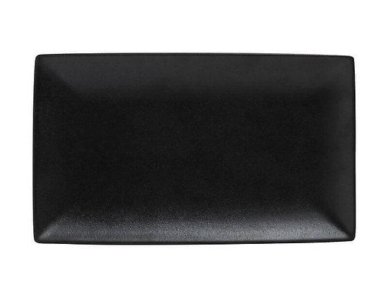 Caviar Black Rectangle Platter 27.5x16cm