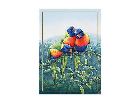 Birds of Australia 10 year Anniversary Tea Towel 50x70cm Lorikeet