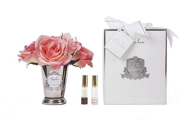 Seven Rose Bouquet White Peach