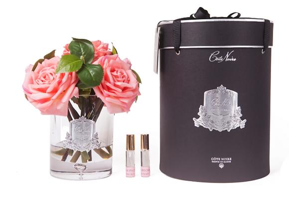 Luxury Tea Rose White Peach - Clear