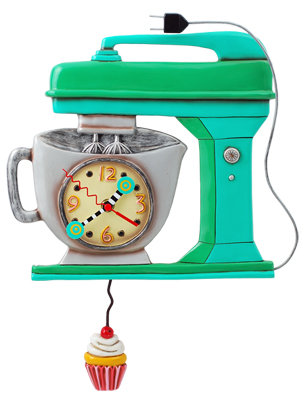 Vintage MIXER  green Clock