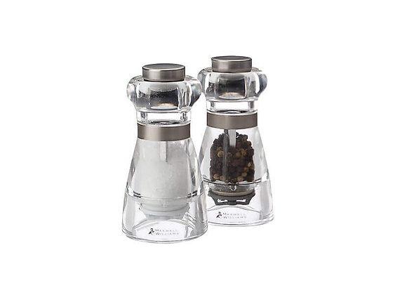 Dynasty Acrylic Salt & Pepper Mill Set 11cm