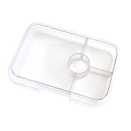 CLEAR Yumbox Tapas Interchangeable Tray - 4 Compartment