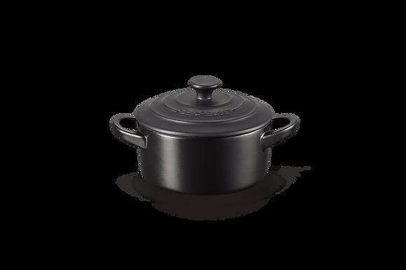 Mini Round Casserole - Satin Black