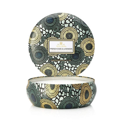 French Cade & Lavender 3 Wick Candle