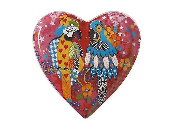 Love Hearts Heart Plate 15.5cm Araras