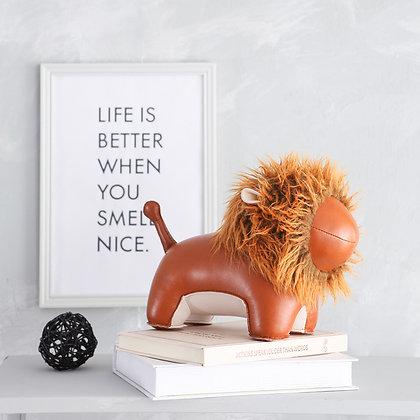Bookend Lion Tan