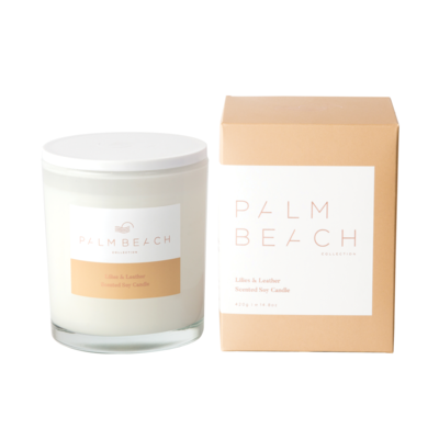 Lilies & Leather Standard Candle