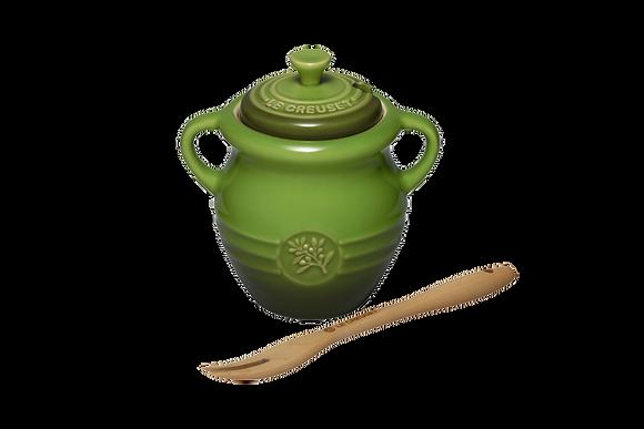Olive Jar & Fork - Sage Green