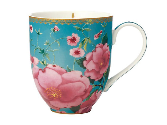 Teas & C's Silk Road Coupe Mug 440ML Aqua Gift Boxed