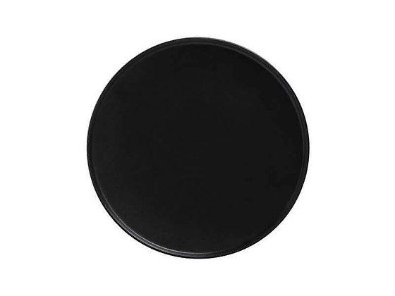 Caviar Black High Rim Plate 21cm