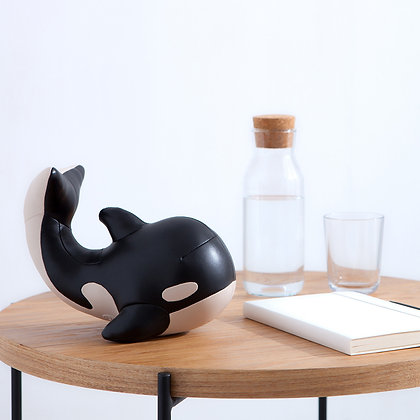 Bookend Whale Black