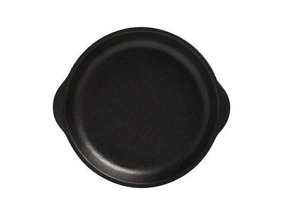 Caviar Black Plate with Handle 15.5x17cm
