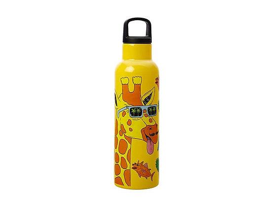 Mulga the Artist Double Wall Insulated Bottle 600ML Giraffe