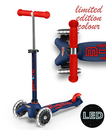 Mini Micro Deluxe LED scooter - Navy Blue