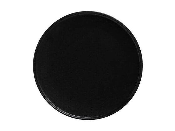 Caviar Black High Rim Plate 24.5cm
