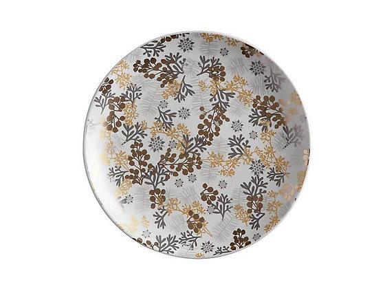Yuletide Plate Round 22cm Evergreen