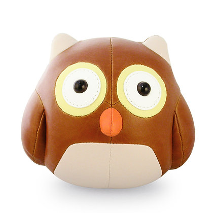 Bookend Owl Tan