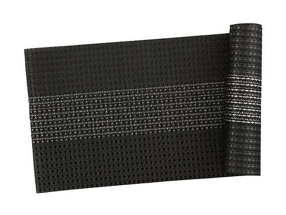 Table Accents Woven Lurex Runner 30x150cm Black