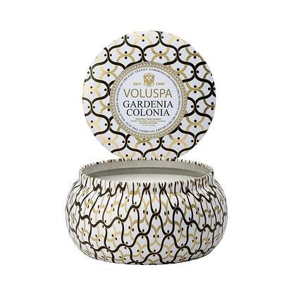 Gardenia Colonia 2 Wick Candle Tin