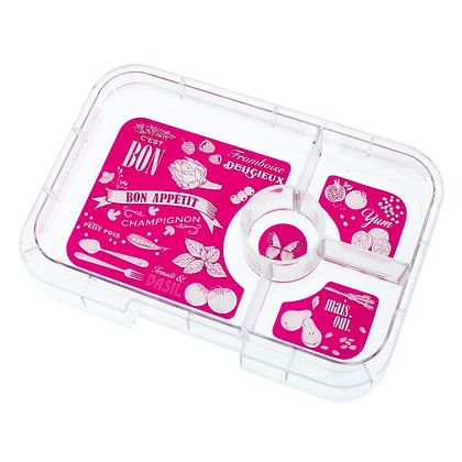 HOT PINK Yumbox Tapas Interchangeable Tray - 4 Compartment