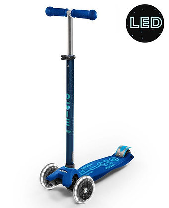 Maxi Micro Deluxe Led Scooter - Navy Blue