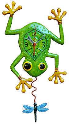 Blue Dragon Frog Clock