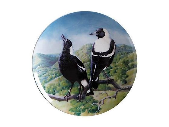 Birds of Australia 10 year Anniversary Plate 20cm Magpie
