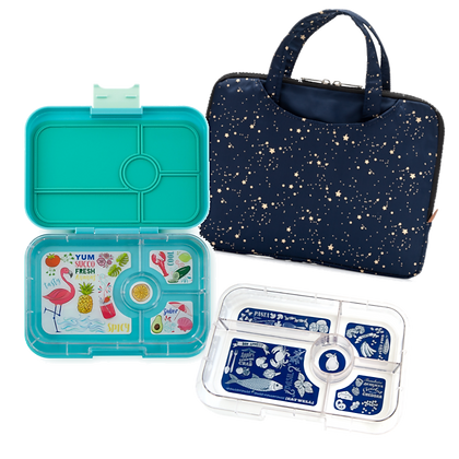 ANTIBES BLUE Yumbox Tapas Set